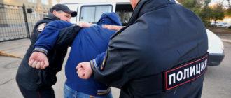 Задержание полицией